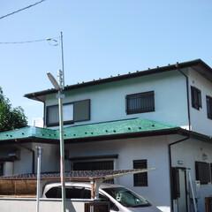 屋根塗装/スレート/塗り替え/塗装工事/調布市/府中市/... 屋根塗装のみシリコン塗料にて塗装。屋根勾…