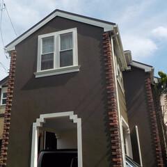 外壁塗装/屋根塗装/塗装工事/施工例/シリコン塗料/低汚染/... 外壁・屋根ともにシリコン塗料を使用し、外…