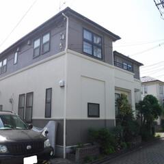 外壁塗装/屋根塗装/塗装工事/シリコン/小金井市/稲城市/... 外壁・屋根はシリコン塗料を使用。外壁に雨…
