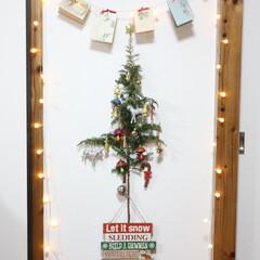 クリスマスデコレーション/クリスマスカード/クリスマスタペストリー/クリスマス雑貨/クリスマスインテリア/クリスマスツリー/... 狭いスペースでもできる、壁掛けクリスマス…
