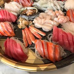 あけおめ 毎年お正月の楽しみ❤️北海道のお刺身も美…