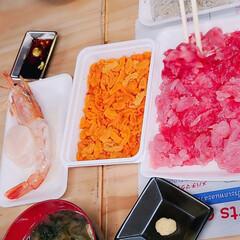 海鮮/ランチ/おでかけ/おすすめアイテム 塩釜市場で海鮮買って ごはんセット 頼ん…