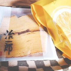 おうちカフェ/おやつ/カフェタイム/バームクーヘン/ケーキ/洋菓子/... ◇治一郎◇のバームクーヘン&レモンケーキ…(1枚目)