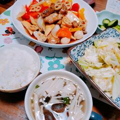 黒酢/酢豚/夜ごはん/暮らし 今日の夜ご飯。 娘が作ってくれました! …