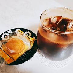 コップ/オーロラグラス/グラス/スイーツ/クッキー/ミーツ/... とある日のおやつ🎵 マイキャプテンチーズ…(1枚目)