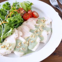 青汁/チキンサラダ/パワーサラダ/野菜たっぷり/腸活/美活/... チキンサラダ~グリーンソース  バジルソ…