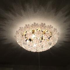 我が家の照明 キシマブーケシーリングライトです(^ω^…