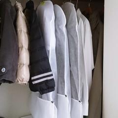 クローゼット/衣類管理/衣類カバー/整理/収納/片づけ 衣替えをしました。 礼服やコートなど、し…