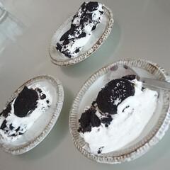 おやつ作り/子どもクッキング/オレオ/キッチン/整理/片付け こどもた達が「オレオチーズケーキ」を作っ…(1枚目)