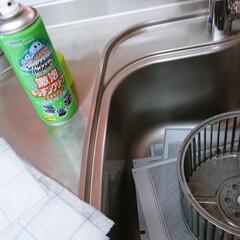 キッチン/レンジフード/掃除/換気扇/油汚れ/洗剤 大体月に1回ペースでレンジフードの掃除を…