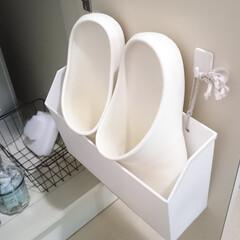 お風呂場/バススリッパ/バスブーツ/収納/片づけ/整理/... お風呂掃除の時などに使うバススリッパは見…