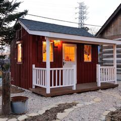 小屋/物置/アトリエ/小さな家/デザイン住宅/住まい/... カントリー調の素敵なアトリエ 小さなお店…
