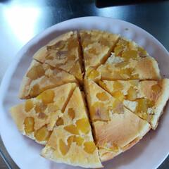 マロンケーキ/お菓子作り おはようございます。今日は雨の予報やった…