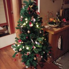 スノードーム/クリスマスツリー/クリスマス雑貨/クリスマスインテリア/ダイソー/100均/... クリスマス準備しました。 ツリー✨🎄✨は…