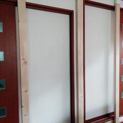 ラブリコ 2X4アジャスター オフホワイト DXO-1 LABRICO | 平安伸銅工業(棚受け)を使ったクチコミ「窓が多く壁が少ないリビング。ソファーの背…」