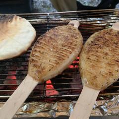 五平餅/飛騨高山/はじめてフォト投稿 BBQで五平餅と焼きせんべい