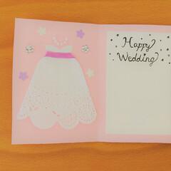 はじめてフォト投稿 友達が婚約したので、手作りカードをプレゼ…(1枚目)