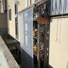 キシラデコール 屋外用 油性 高性能木部保護塗料 色:#111 ウォルナット 4L(ペンキ、塗料)を使ったクチコミ「西側の通路に 秋冬のためだけに(日光浴用…」(6枚目)