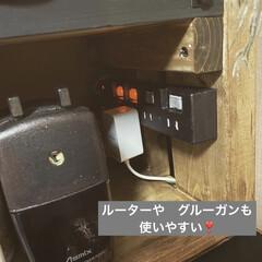 アイアンペイント アイアンブラック(その他塗料、塗装剤)を使ったクチコミ「前に投稿した テレビ台兼作業机!  ベー…」(4枚目)