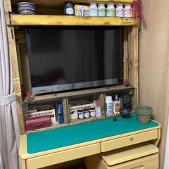 ミルクペイントforガーデン ペンキ DIY 塗装 塗る ペイント 家具 大工 色付け 200mL ターナー | ターナー(ペンキ、塗料)を使ったクチコミ「私の作業机完成✨🙌  tomomoさんの…」