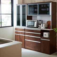 キッチンボード/ダイニングボード/レンジボード/キッチン収納/キッチン/食器収納/... 温かみのあるウォールナット