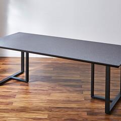 ダイニングテーブル/脚/鉄脚/ストーングレー/メラミン/メラミン天板/... 脚が選べるダイニングテーブル