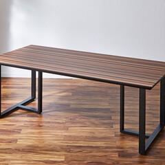 ダイニングテーブル/ダイニング/キッチン/テーブル/キッチンテーブル/食卓/... 脚が選べるダイニングテーブル 木目ミック…