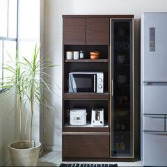 レンジボード/キッチンボード/ダイニングボード/キッチン収納/食器収納/食器棚/... 一人暮らしの方におすすめ。 レンジボード