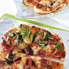 こんがりグルメ 初めて作ったピザ!大成功!