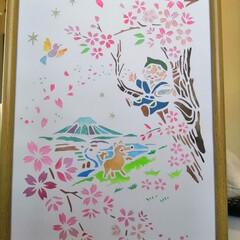 桜/さくら/切り絵/ハンドメイド 切り絵は満開😊
