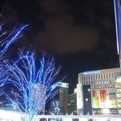 博多駅/はじめてフォト投稿 博多駅前のイルミネーション