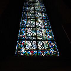 パリ/はじめてフォト投稿 ノートルダム大聖堂のステンドグラス