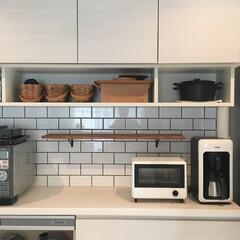 木材/アンクル金具/サブウェイタイル/ワトコオイル/DIY キッチン棚DIY