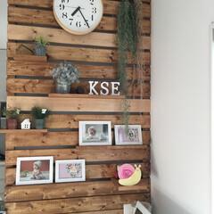リキ時計/木材/ワトコオイル/DIY 飾り棚DIY