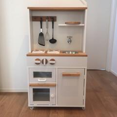 化粧板/カラーボックス/ワトコオイル/DIY ままごとキッチンDIY