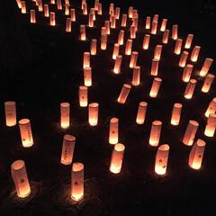 キャンドルナイト/イベント/清水/はじめてフォト投稿 あかりともるよる。静岡の三保の松原で毎年…