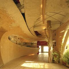 土壁/土の家/左官/リノベーション/やわらかな家 神田SU -ビルの中の土壁の家- 都心の…