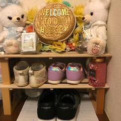 靴の収納 100キングッズや玄関に飾っていた写真立…