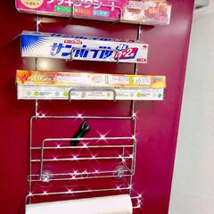 冷蔵庫/サランラップ/収納/インテリア/マグネット/ラップ収納 冷蔵庫にかけて収納できるタイプは、お掃除…