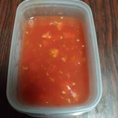スープ/トマト/子育て/育児/赤ちゃん/ベビー/... 離乳食作成中。 トマトと和風だしのスープ…(1枚目)