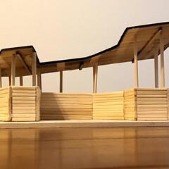 我が家/模型/割り箸/工作/LIMIAな暮らし 割り箸で作った我が家の模型。  去年の夏…