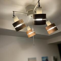 スポットライト/照明器具/オシャレ/ルームライト/ナチュラル/照明 シンプルな部屋なので、温かみを出すために…(1枚目)