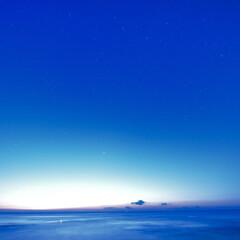 太平洋/茨城県/二つ島/夜明け前/ブルーアワー/ブルーモーメント/... ブルーアワー…夜明け前の特別な時間 この…