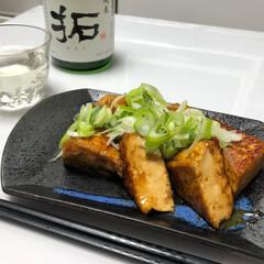 厚揚げ/日本酒/はらぺこグルメ 厚揚げ焼き 日本酒に合うつまみを作りまし…