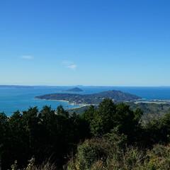 ブルー/可也山/登山/福岡 糸島、可也山山頂からの眺めです。この日は…