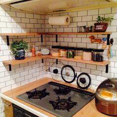 DIY/キッチン 棚完成〜🎵