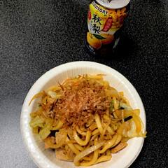 自炊男子/おうちごはん/うどん 焼きうどん 簡単だけど美味しい!満足満足…