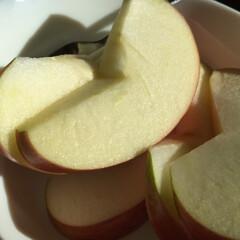 しあわせご飯。/わたしのご飯/リンゴ/朝食/おやつ/デザート/... しあわせご飯。 朝食のお供に、食後のデザ…