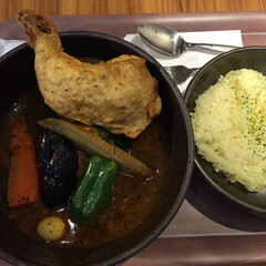 私のご飯。/ピカンティ/サクッとPICAチキン/スープカレー/わたしのお気に入り 私のご飯。 ピカンティさんのスープカレー…