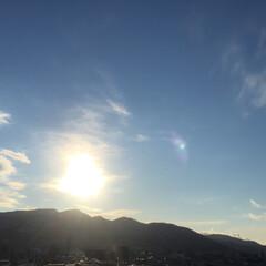 私のお気に入り/風景/西の空/眩しい/キレイ/わたしのお気に入り 私のお気に入りの風景。 西の空に太陽が沈…